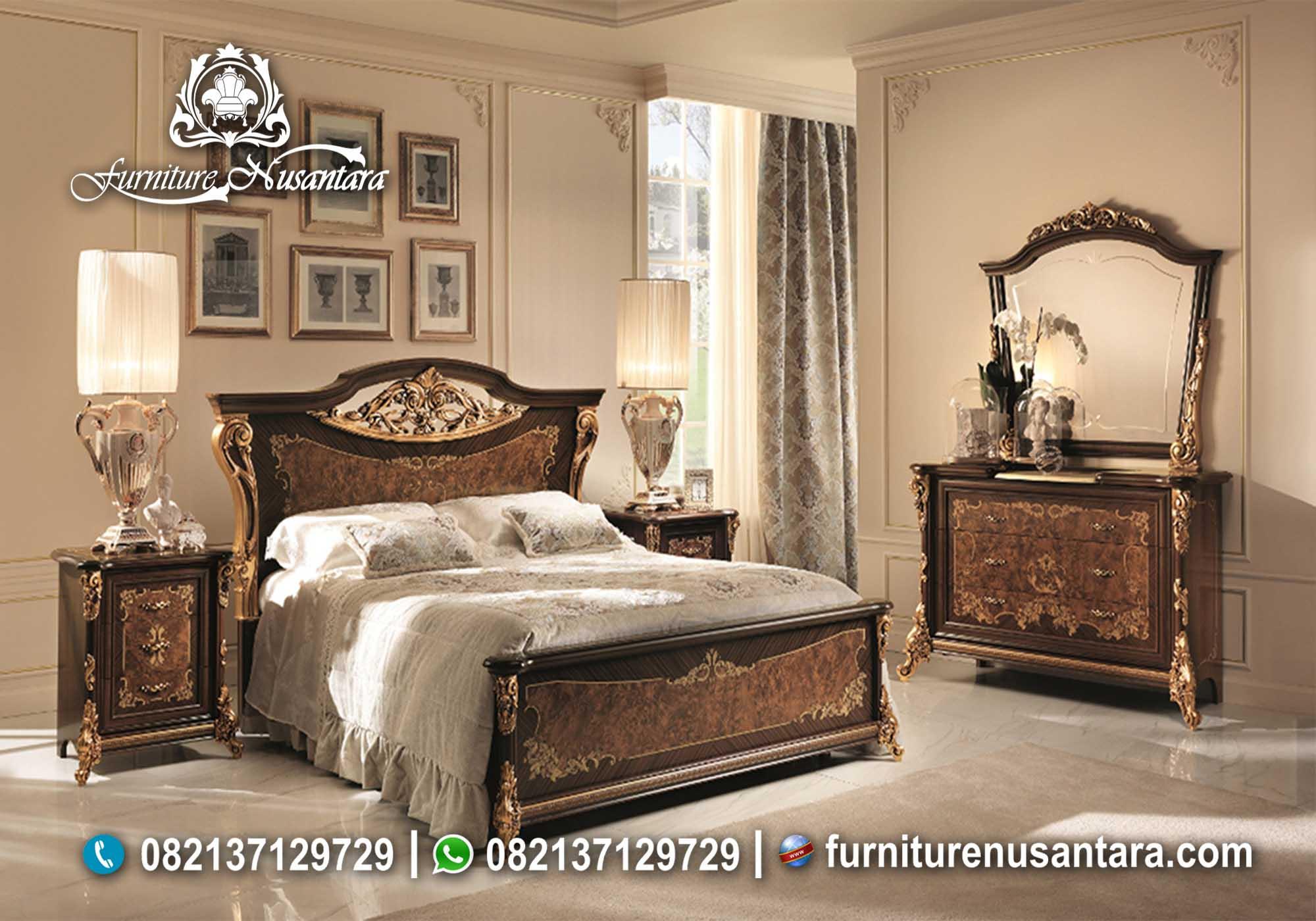 Tempat Tidur Kayu Natural KS-85, Furniture Nusantara