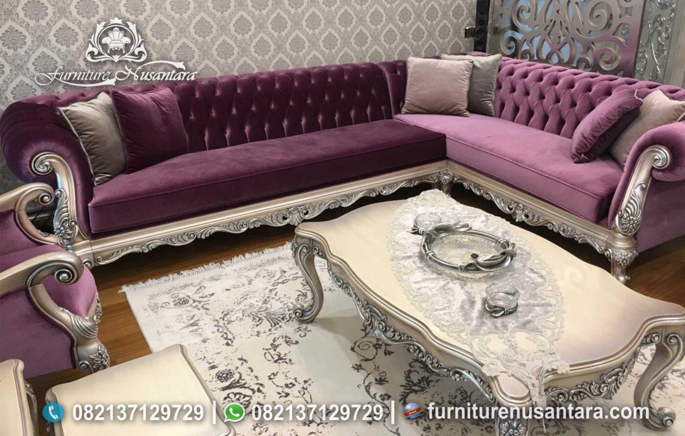 Jual Sofa L Luxury Eropa Terbaru 2021 ST-17, Furniture Nusantara