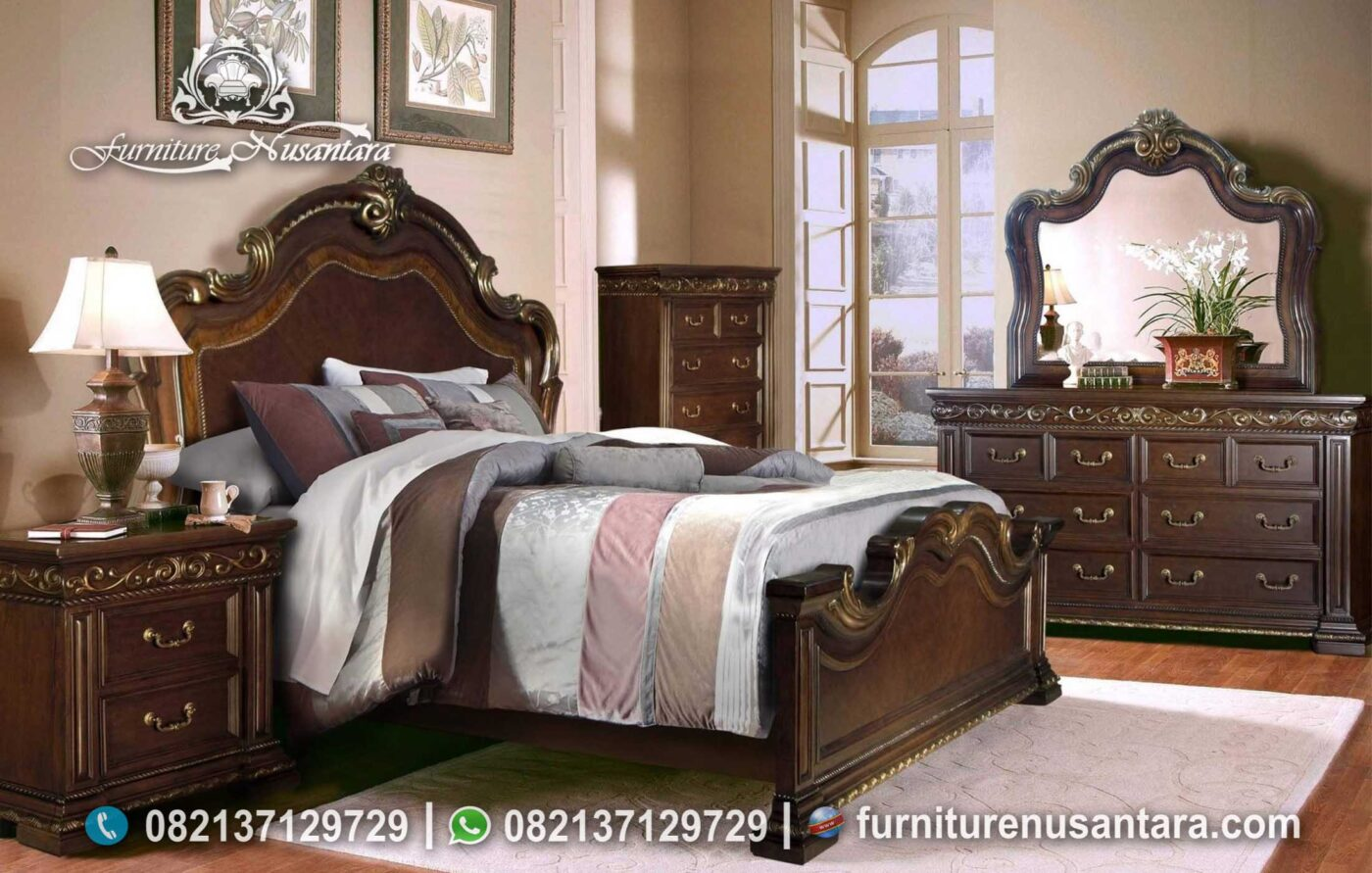 Kamar Tidur Antik Natural KS-101, Furniture Nusantara