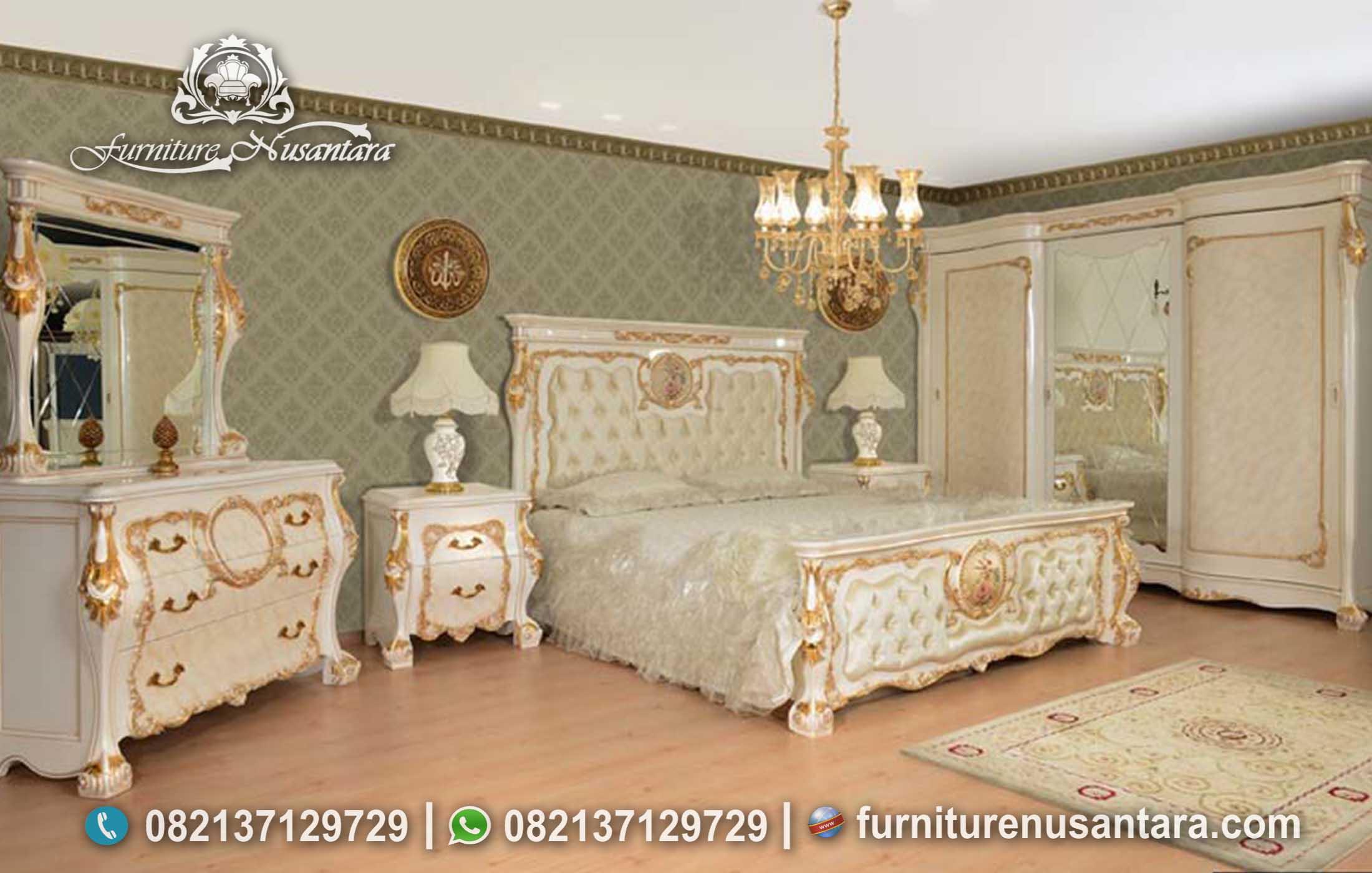Kamar Set Klasik Putih Soft KS-132, Furniture nusantara