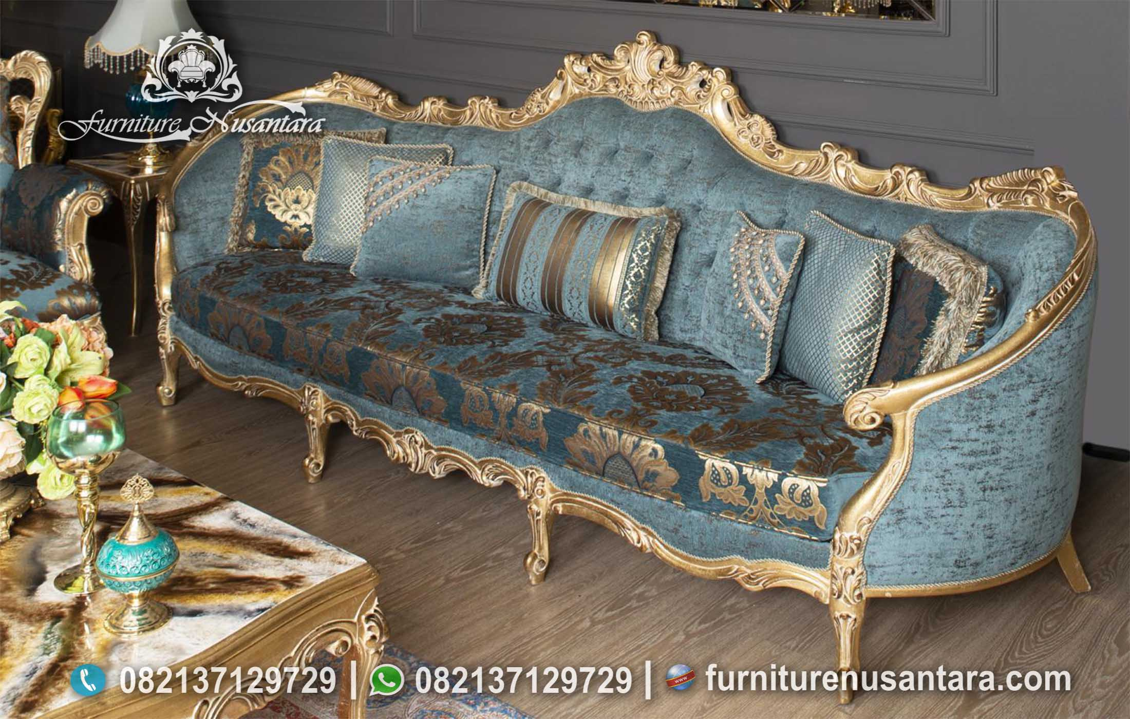 Model Sofa Ukir Modern Terbaru ST-62, Furniture Nusantara