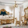 Desain Kamar Tidur Gold Colour KS-130, Furniture Nusantara