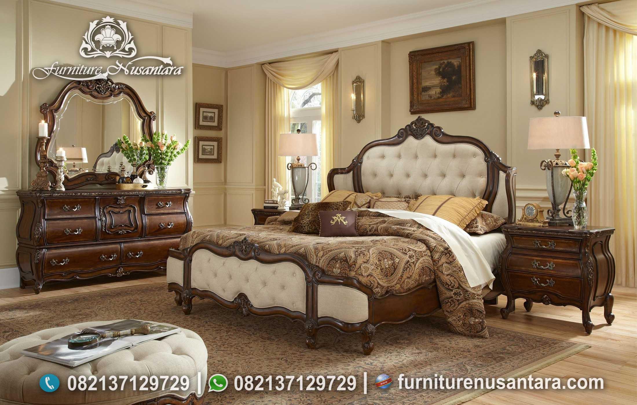 Tempat Tidur Klasik Kayu Jati KS-43, Furniture Nusantara
