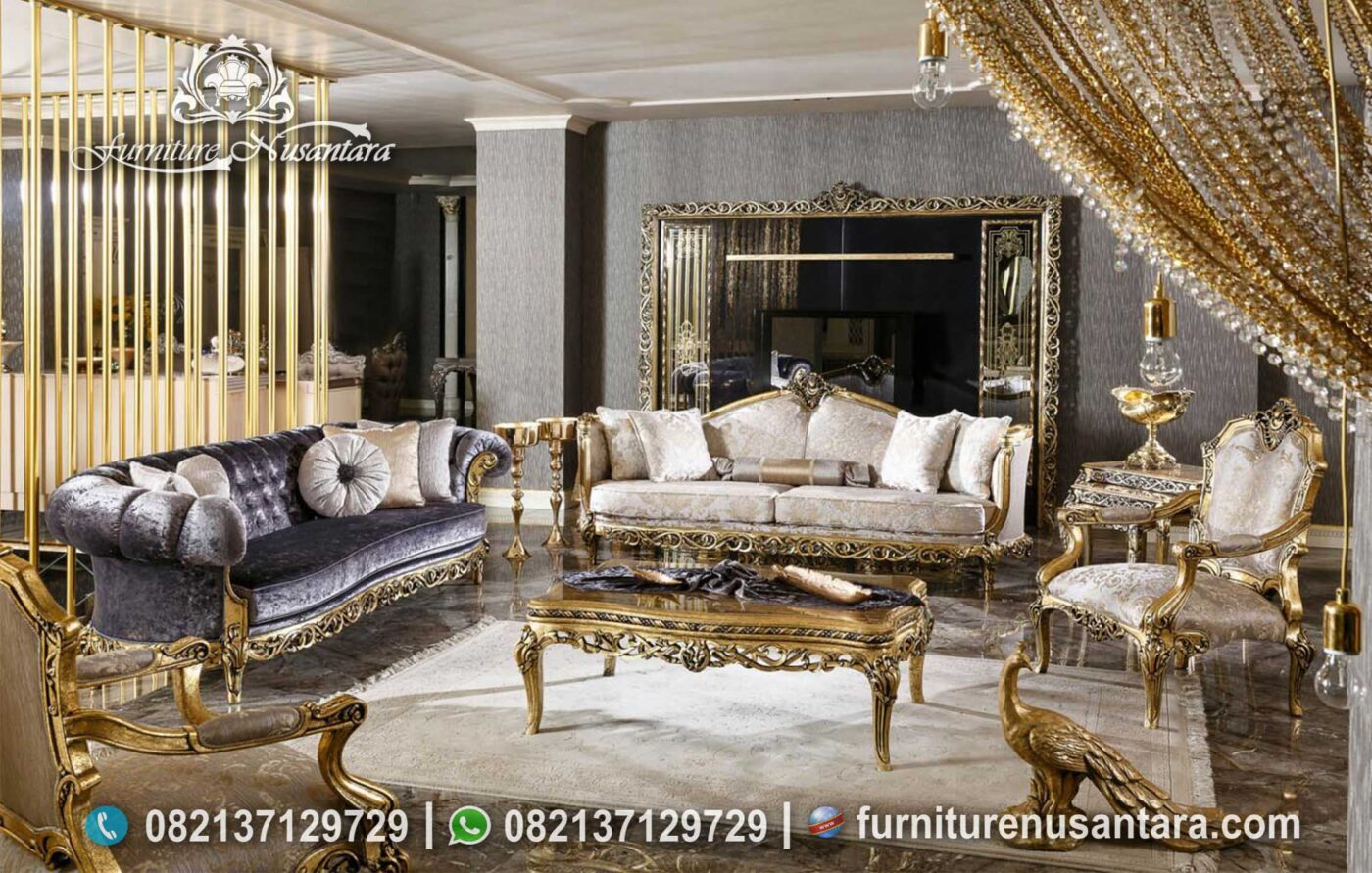 Sofa Luxury Mewah Terbaru ST-44,, Furniture Nusantara