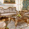 Desain Sofa Warna Marmer Emas Glamour St-19, Furniture Nusantara