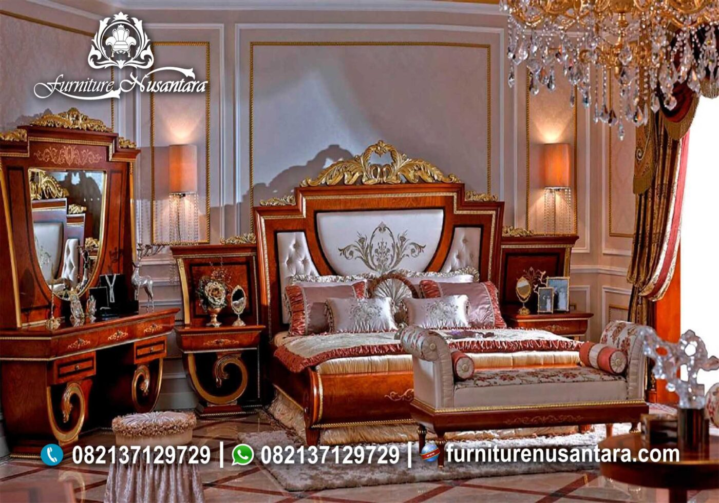 Bedset Ukir Mewah Turki KS-24, Furniture Nusantara