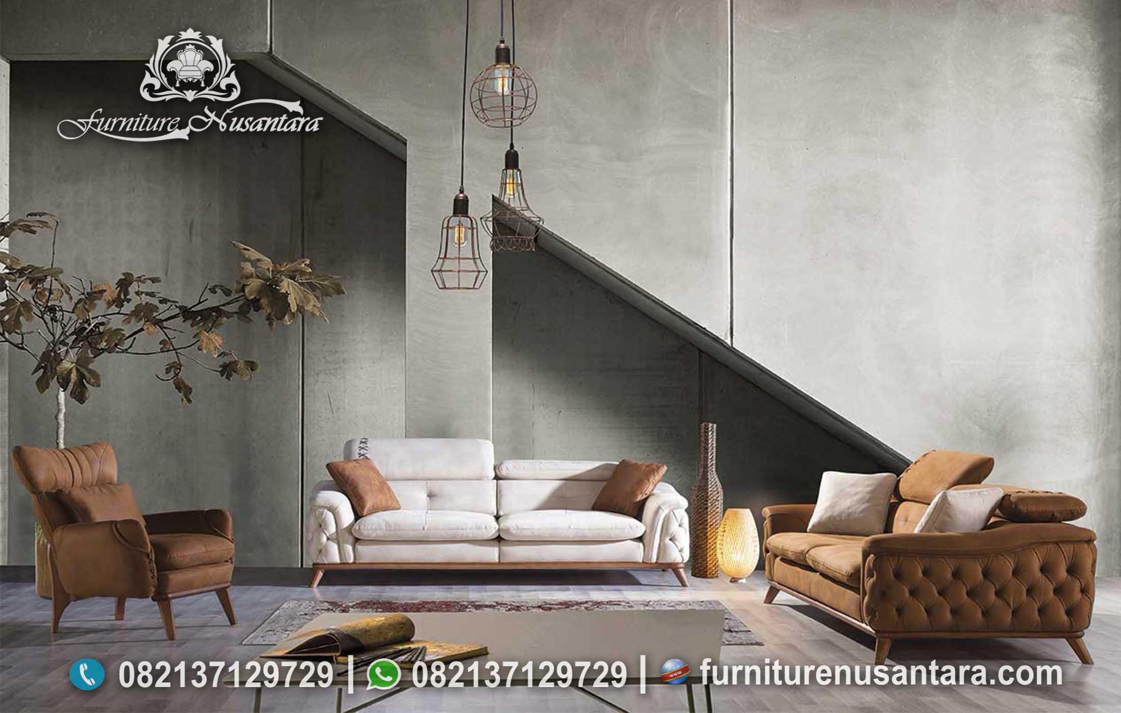Sofa Minimalis Mewah Terbaru ST-18, Furniture Nusantara