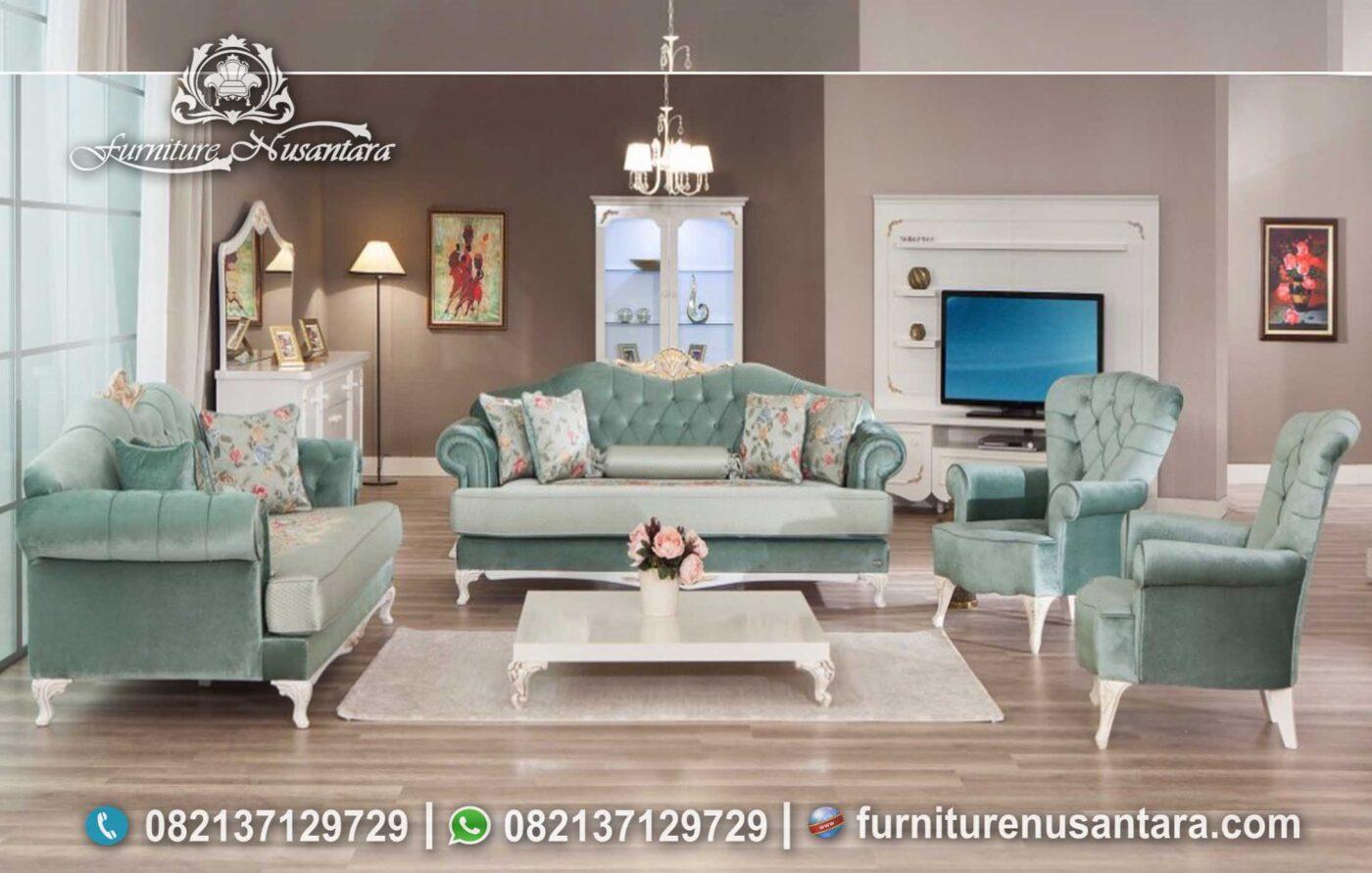 Sofa Terbaru Warna Hijau Muda ST-54, Furniture Nusantara