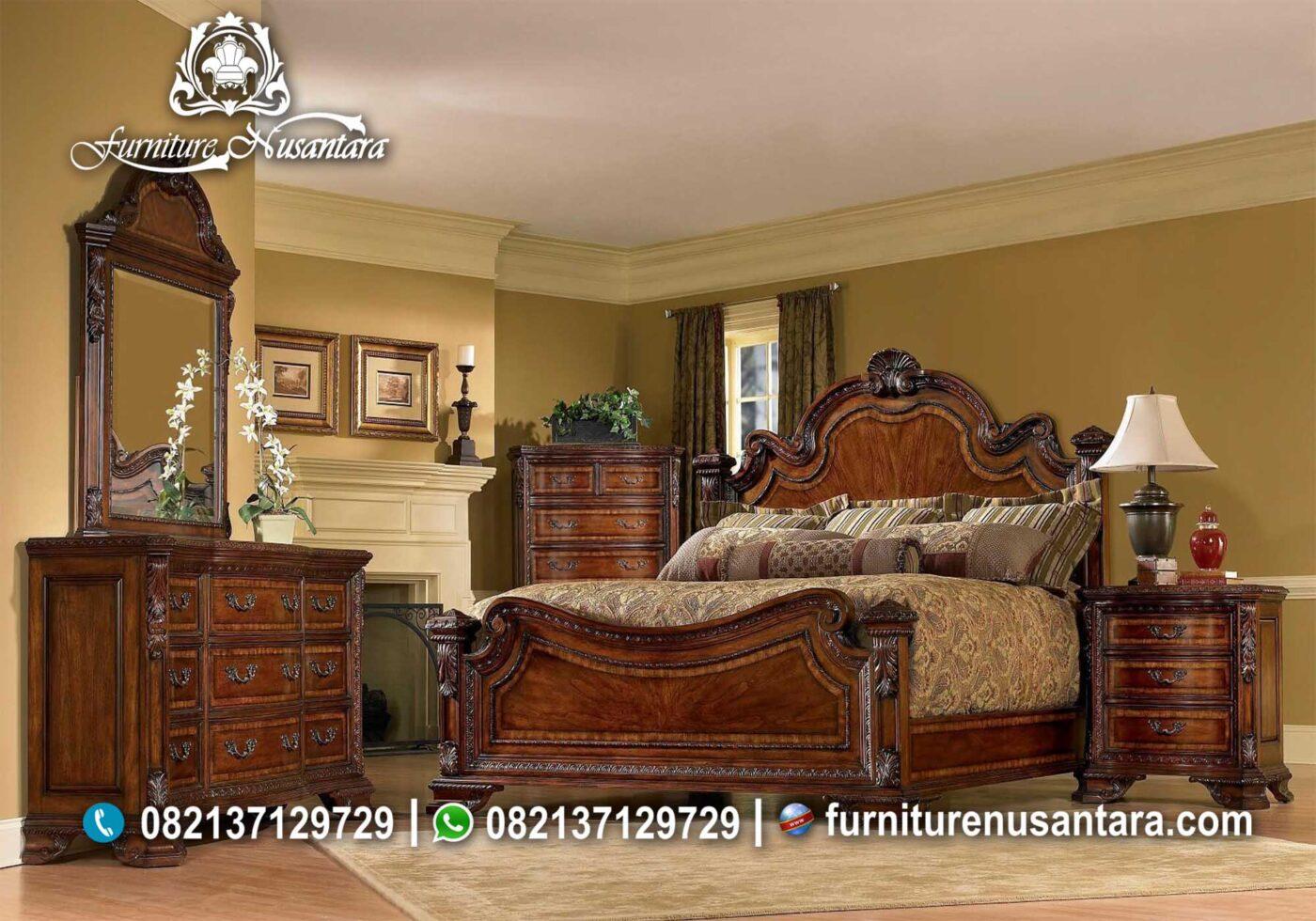 Ide Kamar Tidur Ukir Natural KS-28, Furniture Nusantara