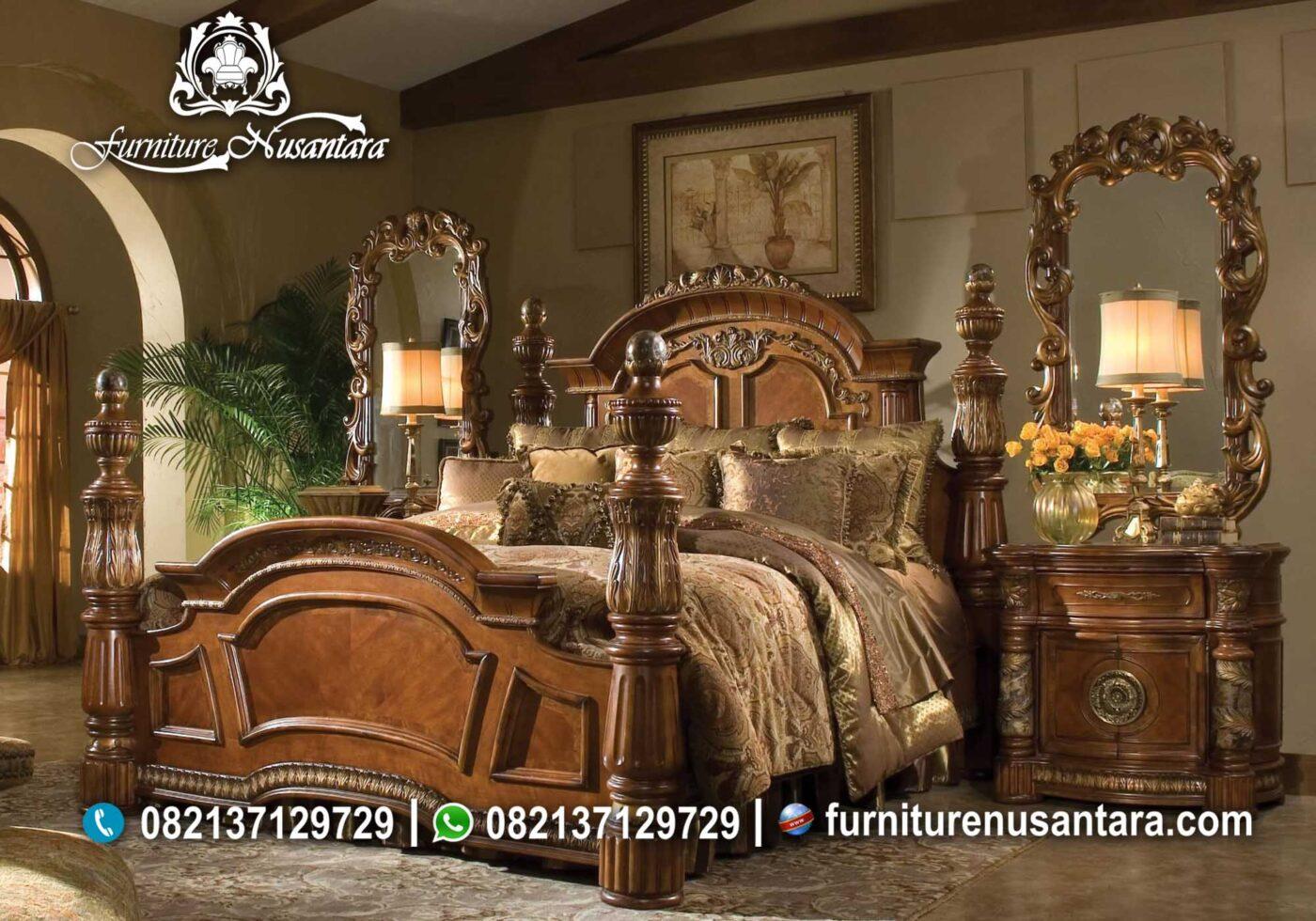 Kamar Set Kayu Jati Eropa KS-74, Furniture Nusantara
