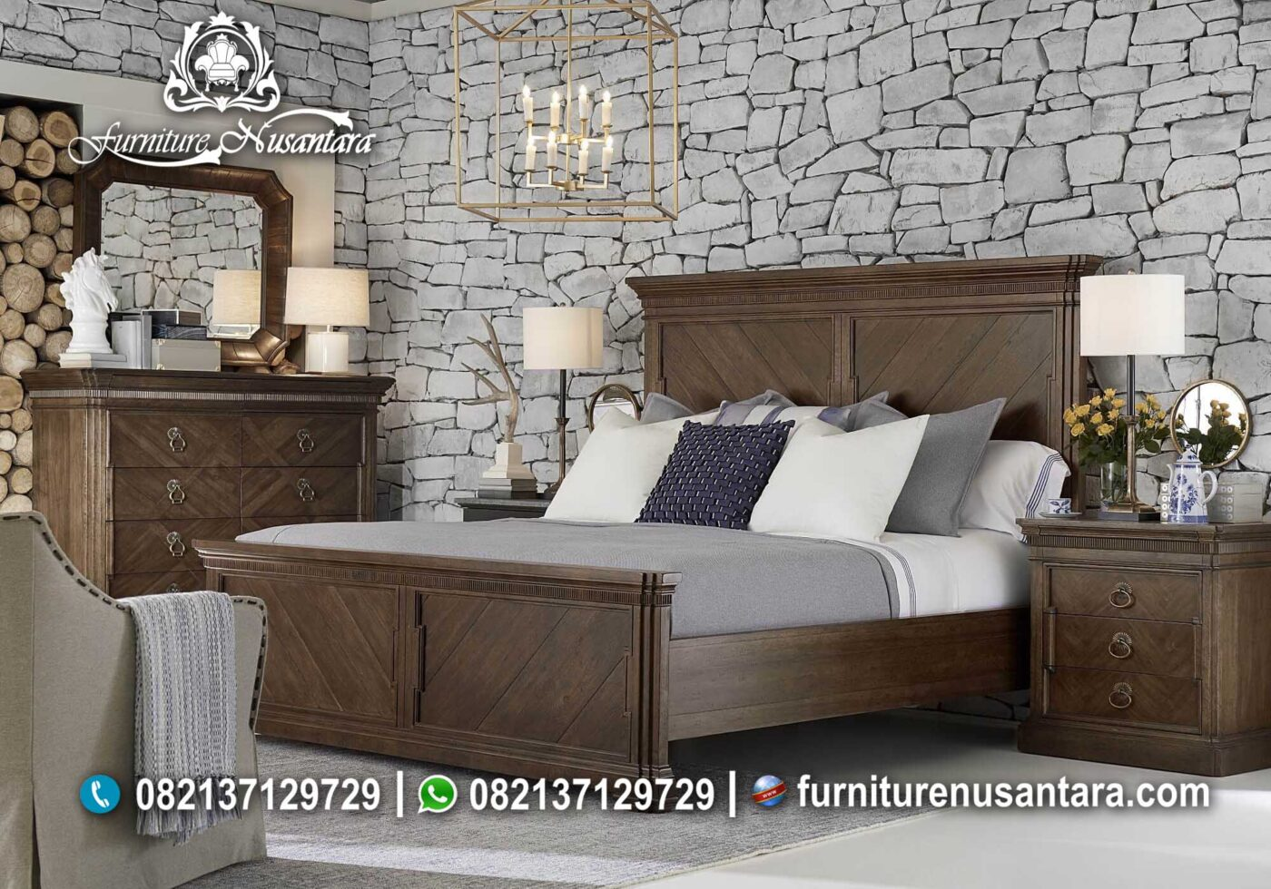 Jual Kamar Set Natural Murah KS-52, Furniture Nusantara