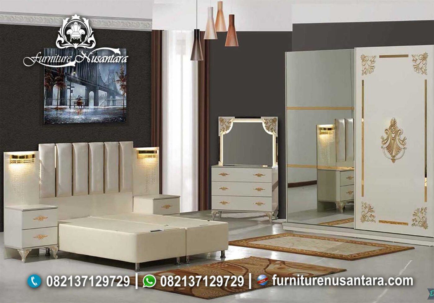 Kamar Set Minimalis Mewah KS-64, Furniture Nusantara