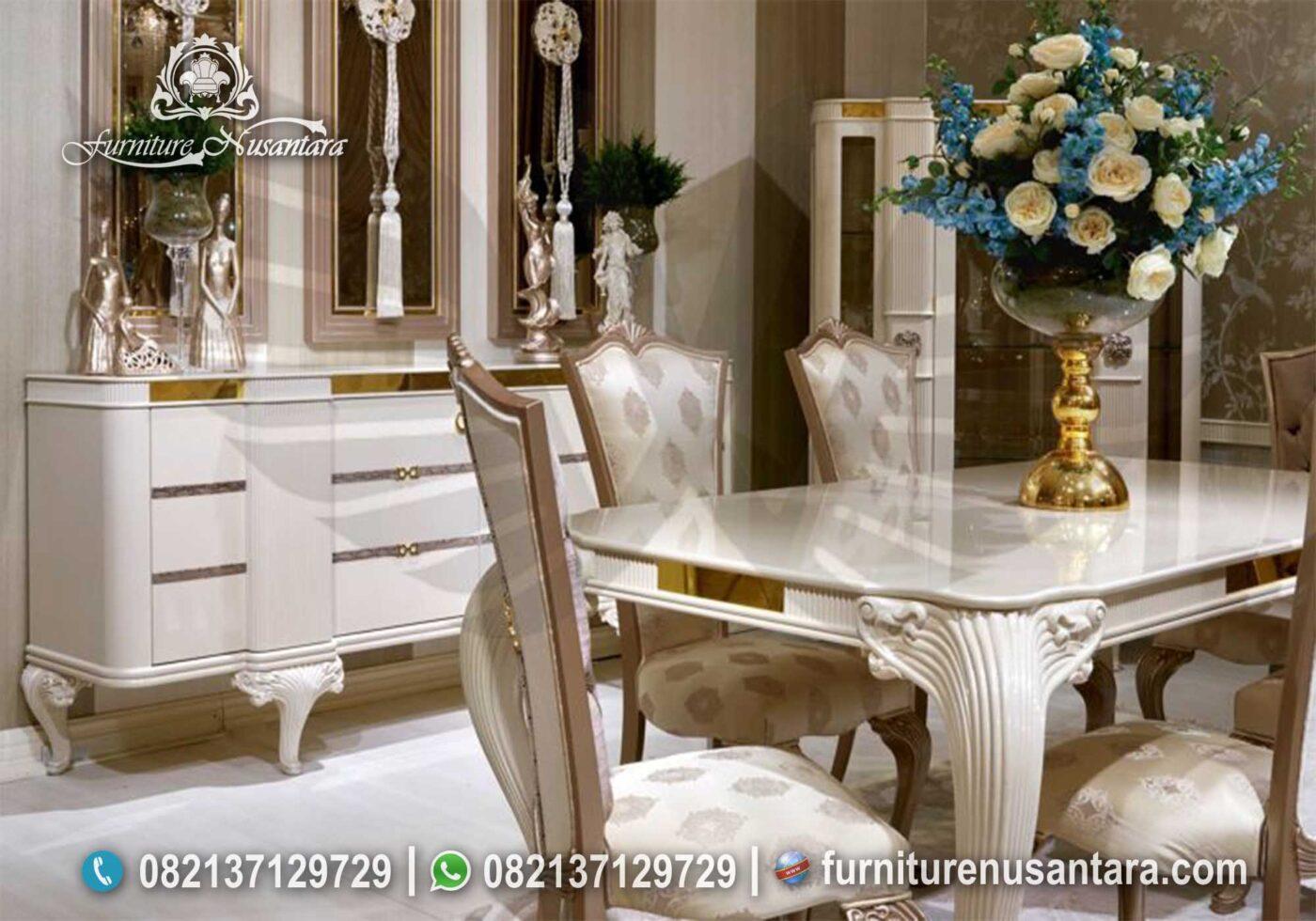 Desain Meja Makan Klasik Terbaru MM-01, Furniture Nusantara