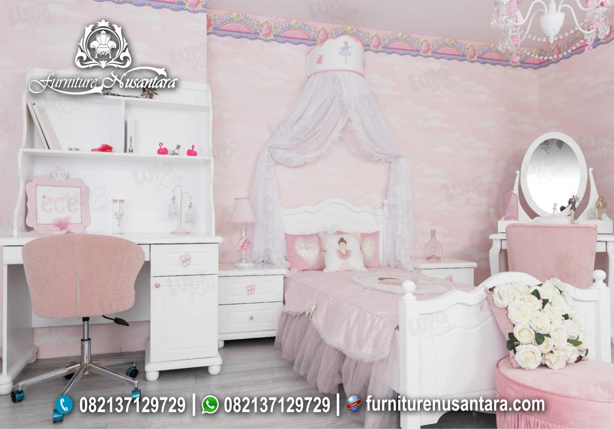 Dekorasi Kamar Anak Minimalis Lucu Elegan KA-01, Furniture Nusantara