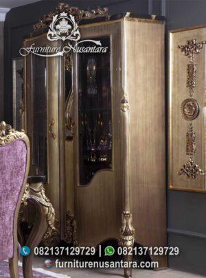 Jual Lemari Pajangan Klasik Modern Ukir Jepara LP-01, Furniture Nusantara