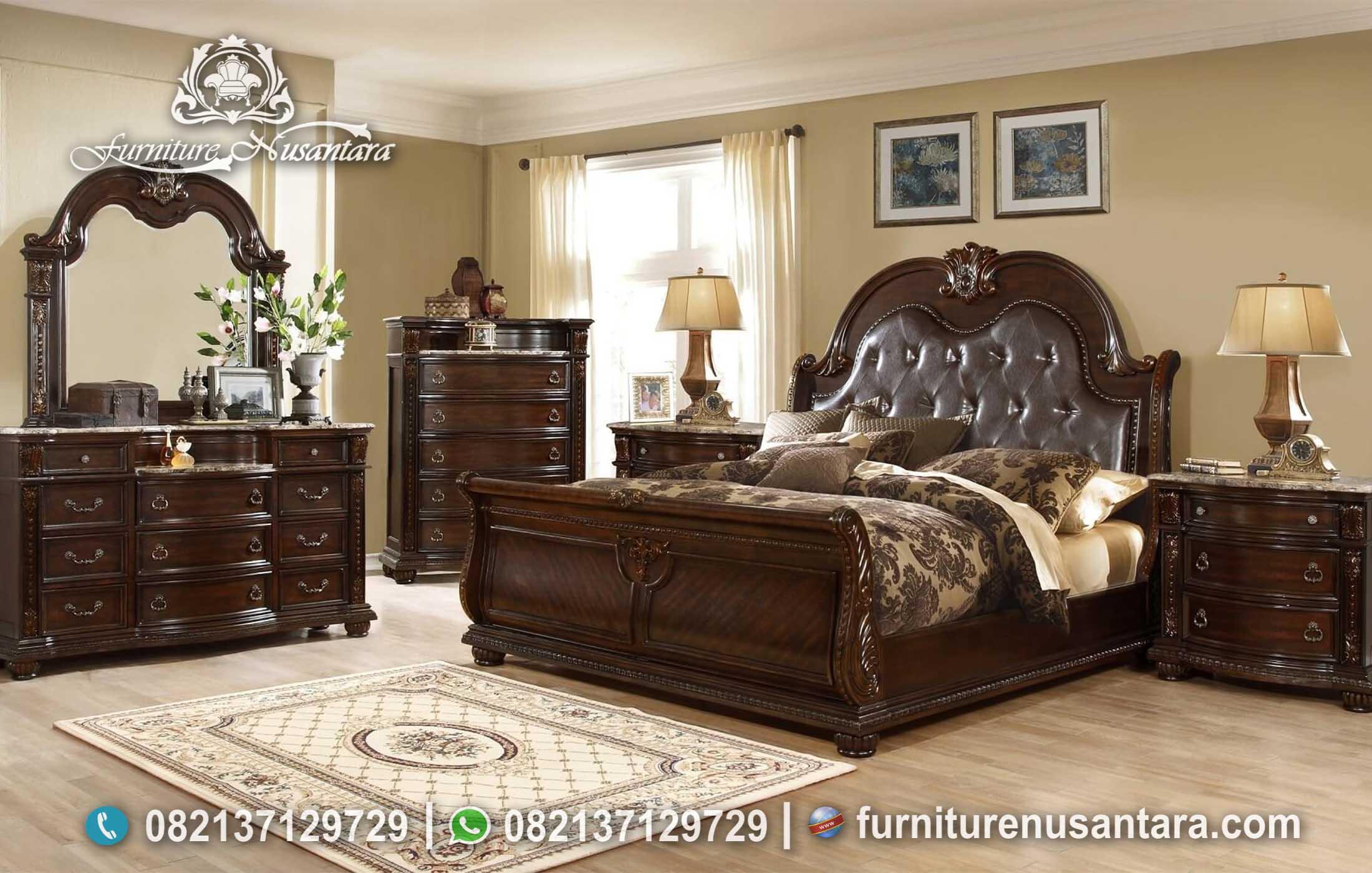Desain Kamar Tidur Warna Salak Brown KS-135, Furniture Nusantara
