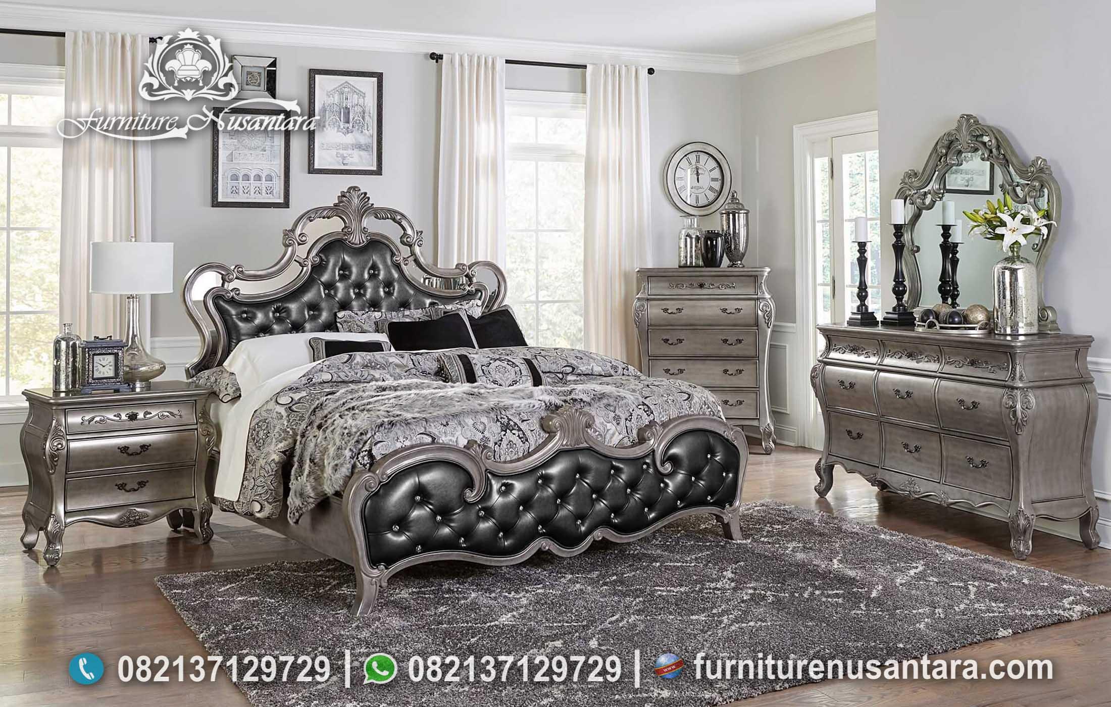 Desain Kamar Silver Cantik Mewah KS-141, Furniture Nusantara