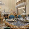 Desain Meja Makan Gold Kombinasi Marmer MM-14, Furniture Nusantara