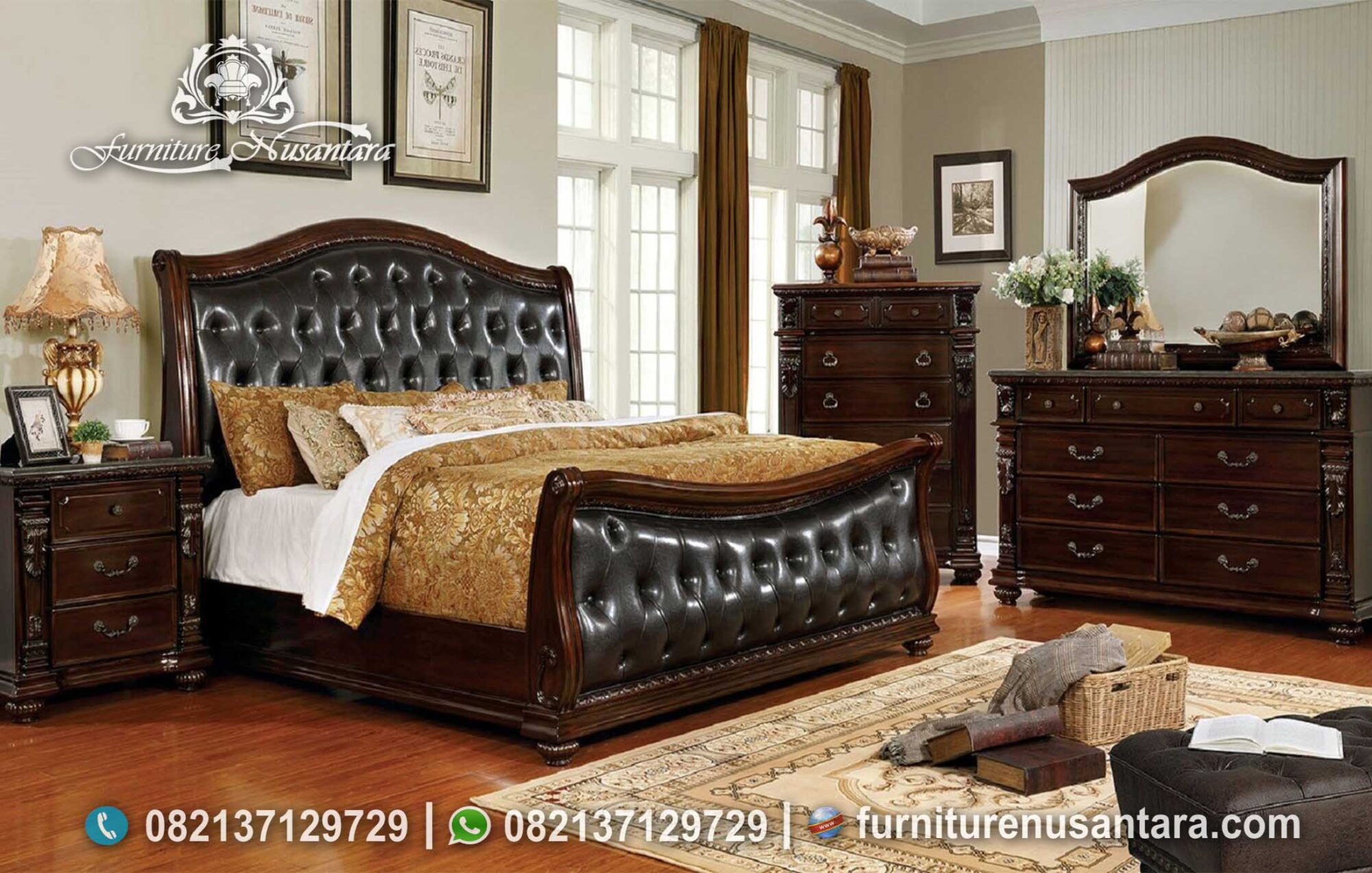 Kamar Tidur Maskulin Brown Wallnut KS-147, Furniture Nusantara