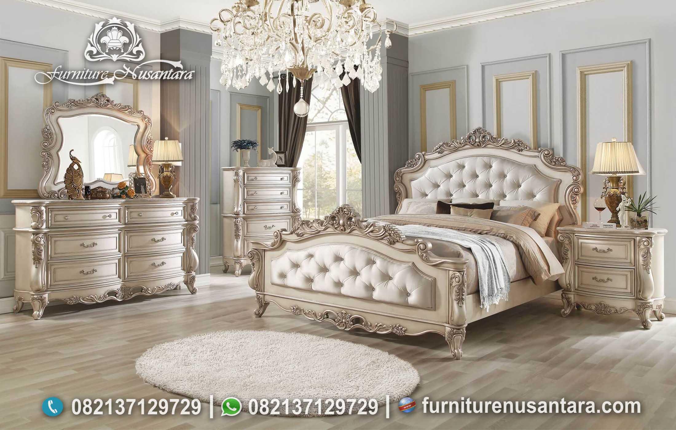 Bedroom Desain Klasik Ukir Jepara Simple KS-149, Furniture Nusantara