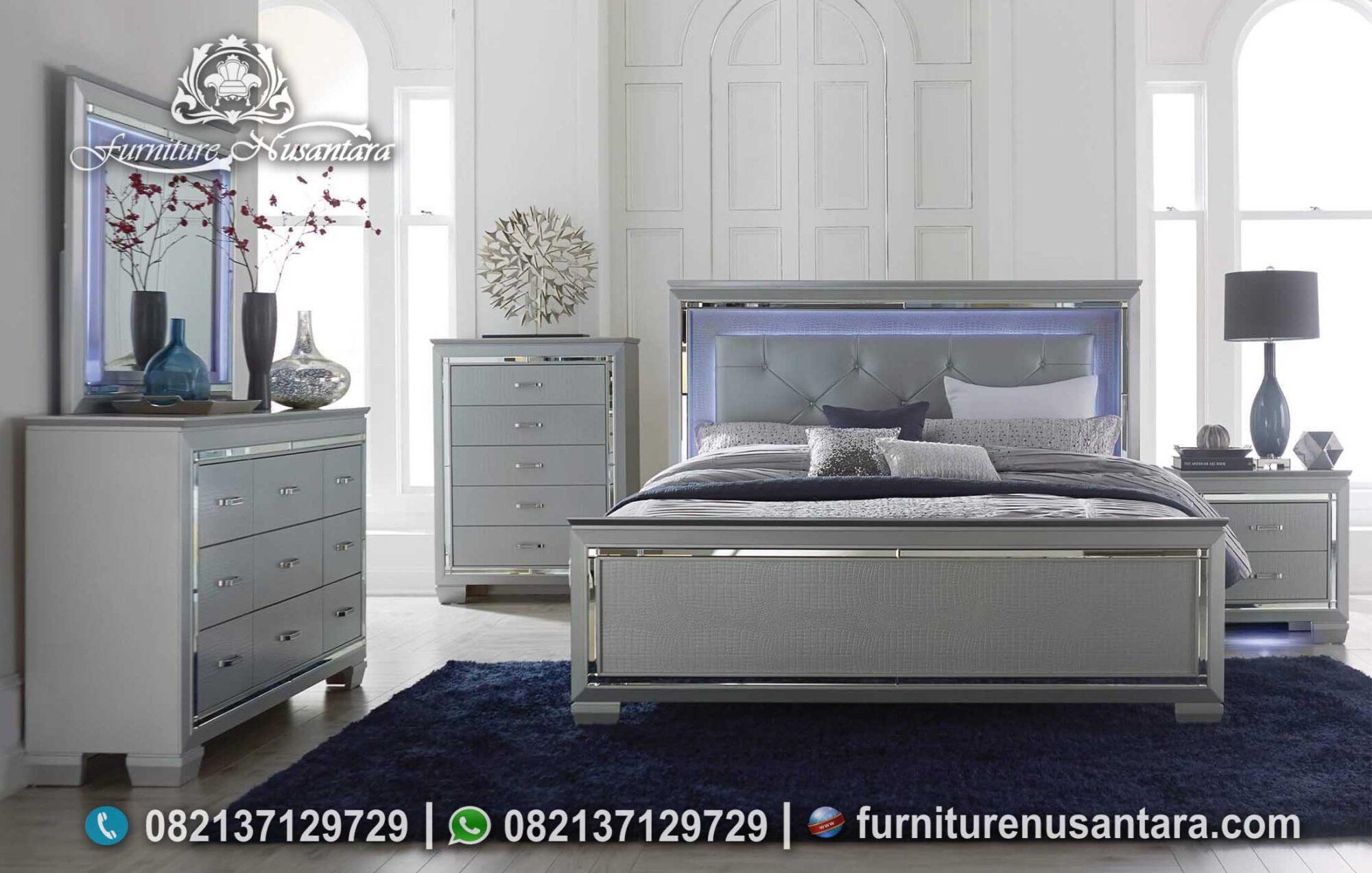 Desain Tempat Tidur Apartemen Minimalis Modern KS-150, Furniture Nusantara