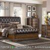 Tempat Tidur Minimalis Jati Natural KS-152, Furniture Nusantara