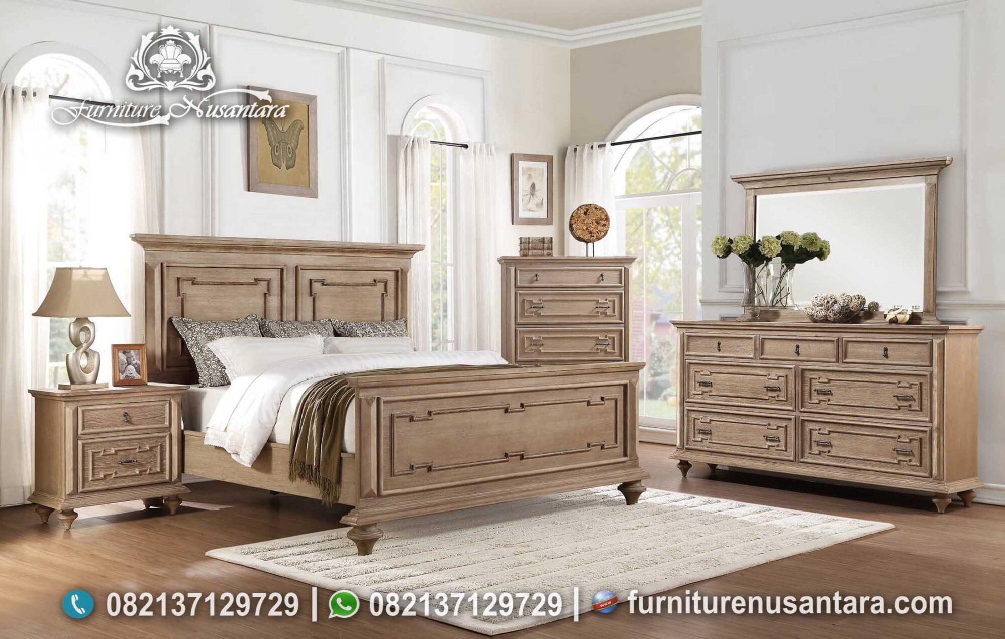 Set Tempat Tidur Model Rustic Finishing KS-153, Furniture Nusantara