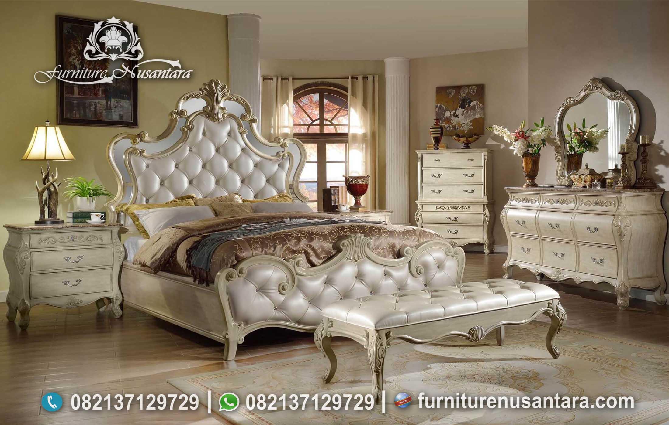 Jual Set Kamar Tidur Klasik Italian Leather KS-158, Furniture Nusantara