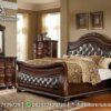 Tempat Tidur Natural Wallnut Colour Model Elegan KS-159, Furniture Nusantara