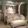 Set Tempat Tidur Pearl Canopy Mewah KS-161, Furniture Nusantara