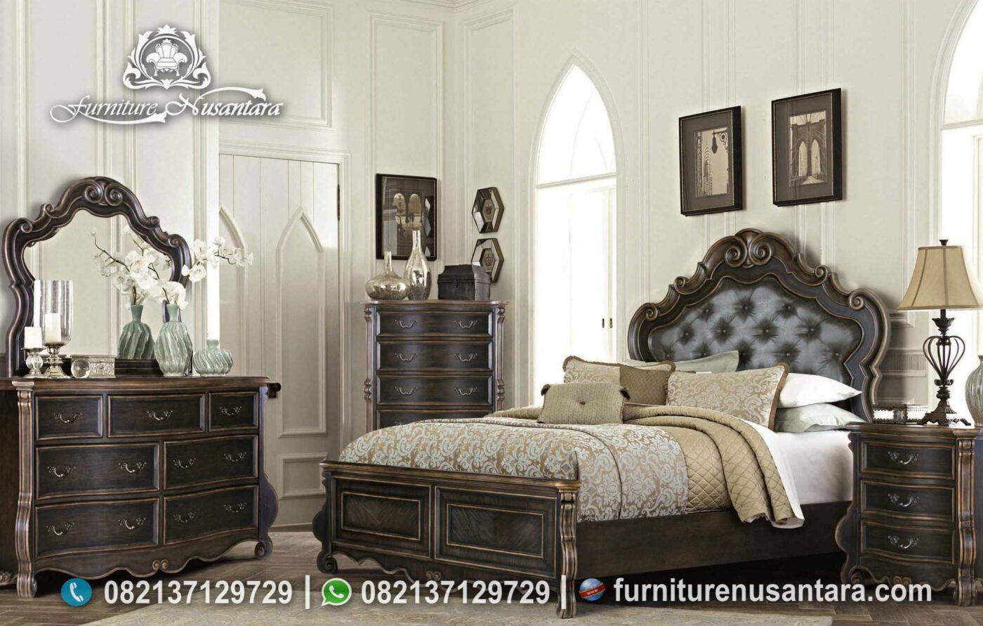 Kamar Tidur Murah Model Victorian Hitam KS-164, Furniture Nusantara