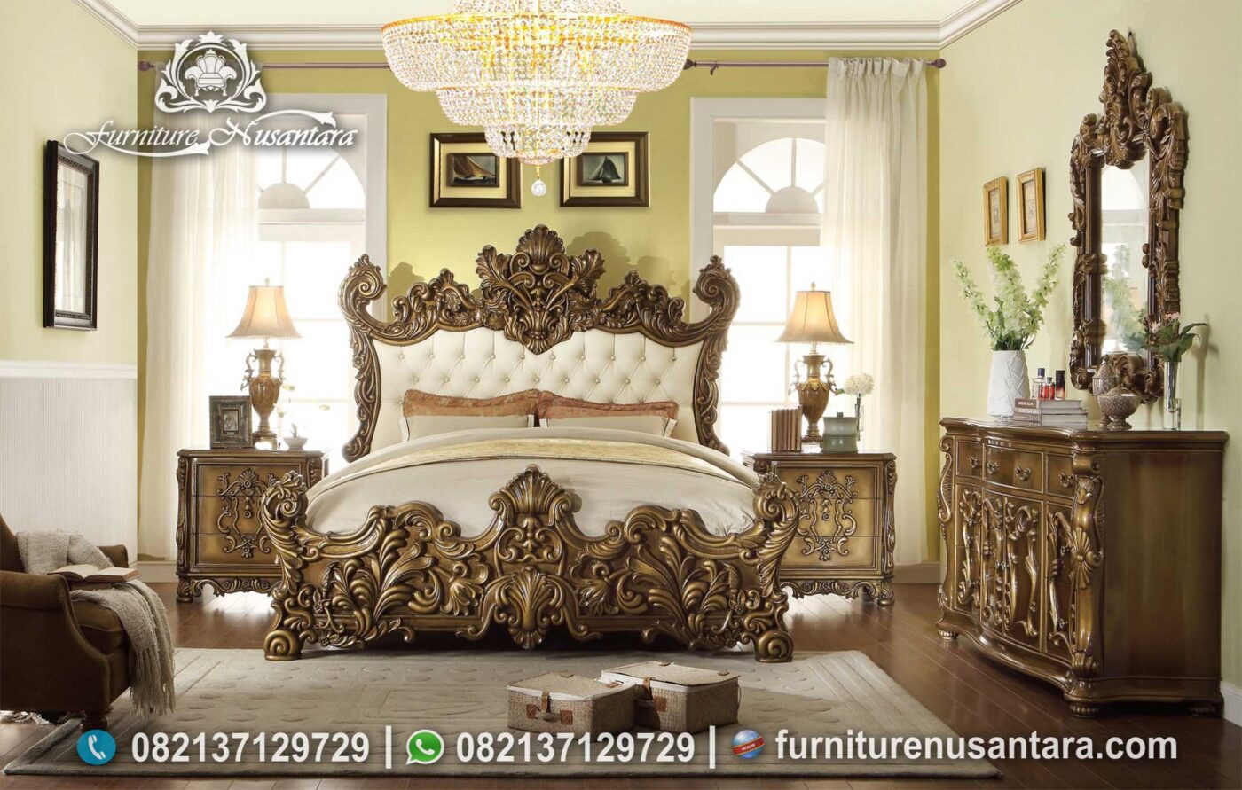 Best Italian Luxury Bedroom Casual Ukir KS-172, Furniture Nusantara