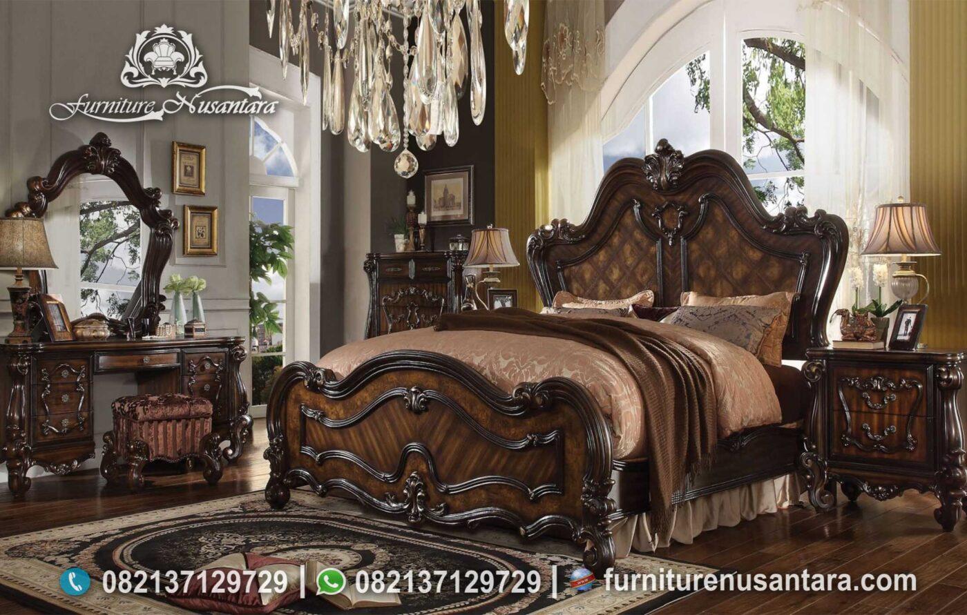 Kamar Tidur Natural Estetis Klasik Wallnut KS-174, Furniture Nusantara