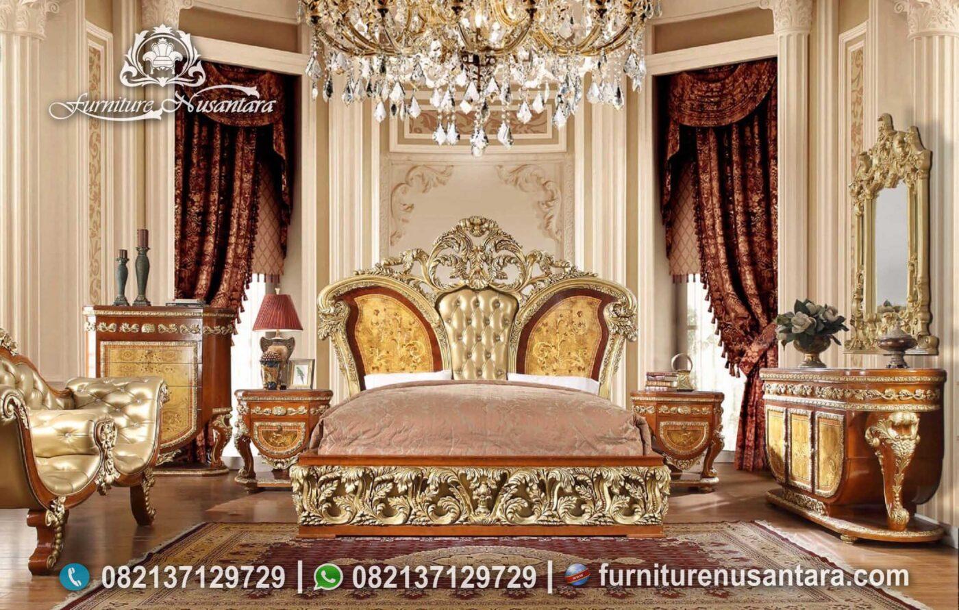 Desain Kamar Tidur Raja Mewah Terbaik KS-176, Furniture Nusantara