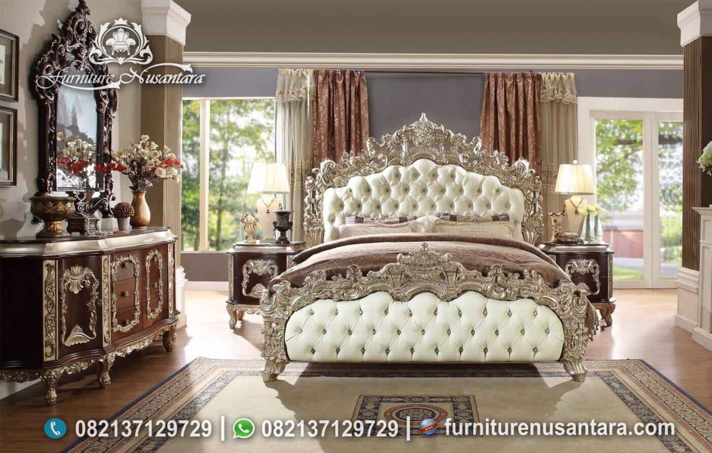 Tempat Tidur Klasik Ukir Jepara Terbaru KS-184, Furniture Nusantara