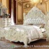 Bedset Warna Putih Ukir 3D Terbaik KS-188, Furniture Nusantara