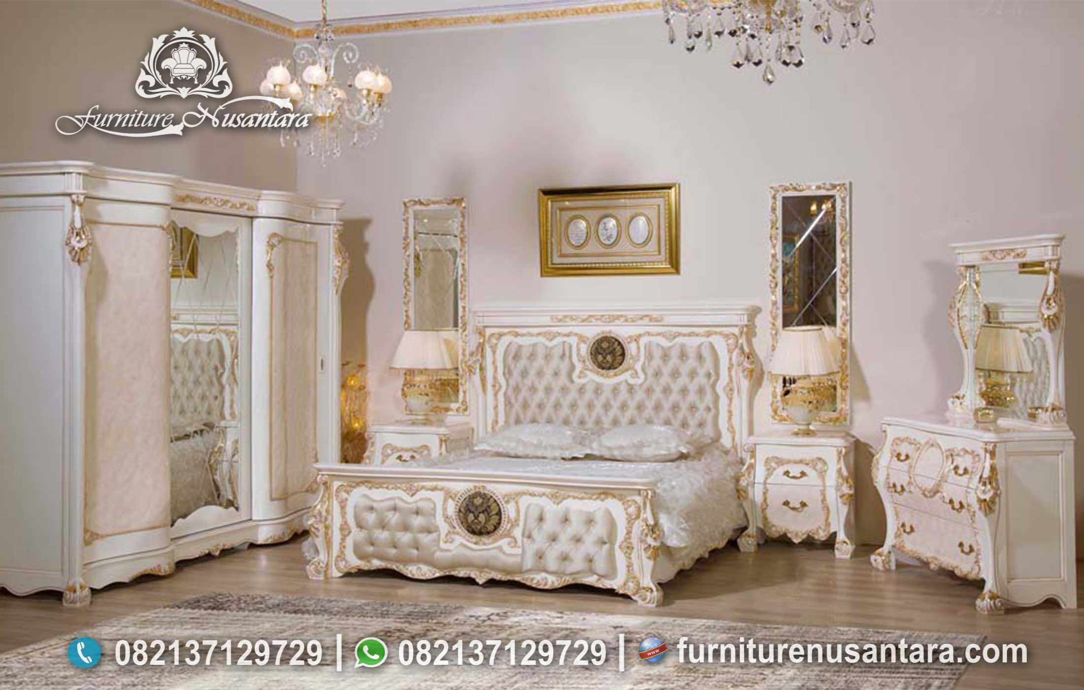 Jual Set Kamar Tidur Klasik Mewah KS-193, Furniture Nusantara