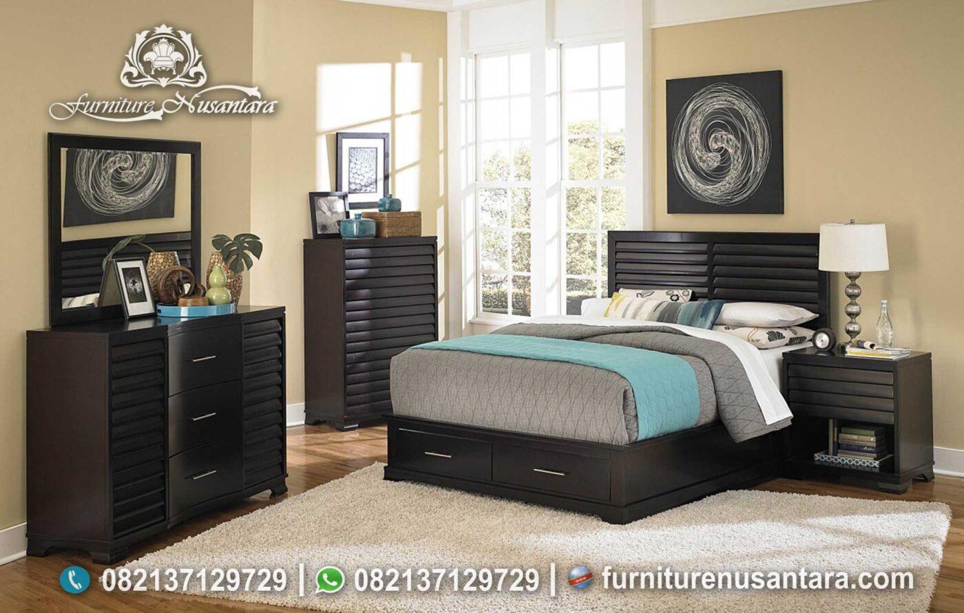 Kamar Set Minimalis Krepyak Hitam Doft KS-208, Furniture Nusantara