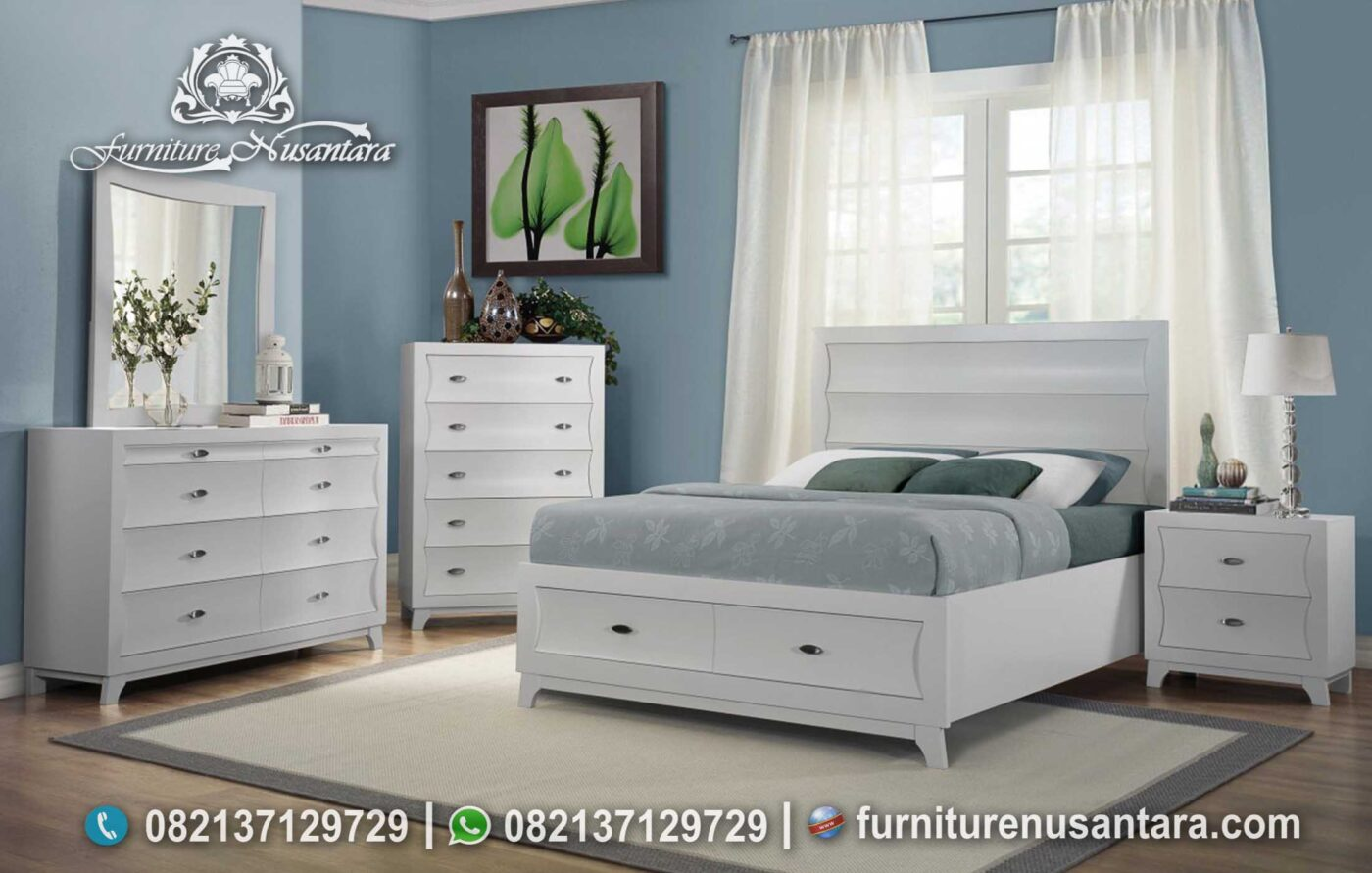 Desain Kamar Minimalis Modern Putih KS-210, Furniture Nusantara