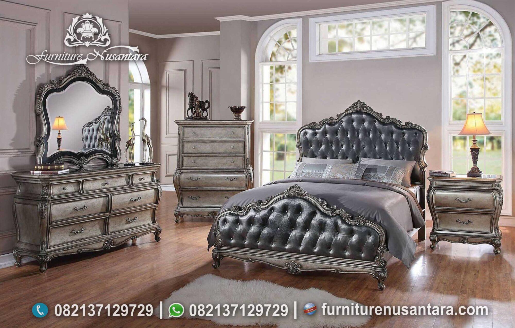 Inspirasi Kamar Set Warna Abu Abu Mewah KS-215, Furniture Nusantara