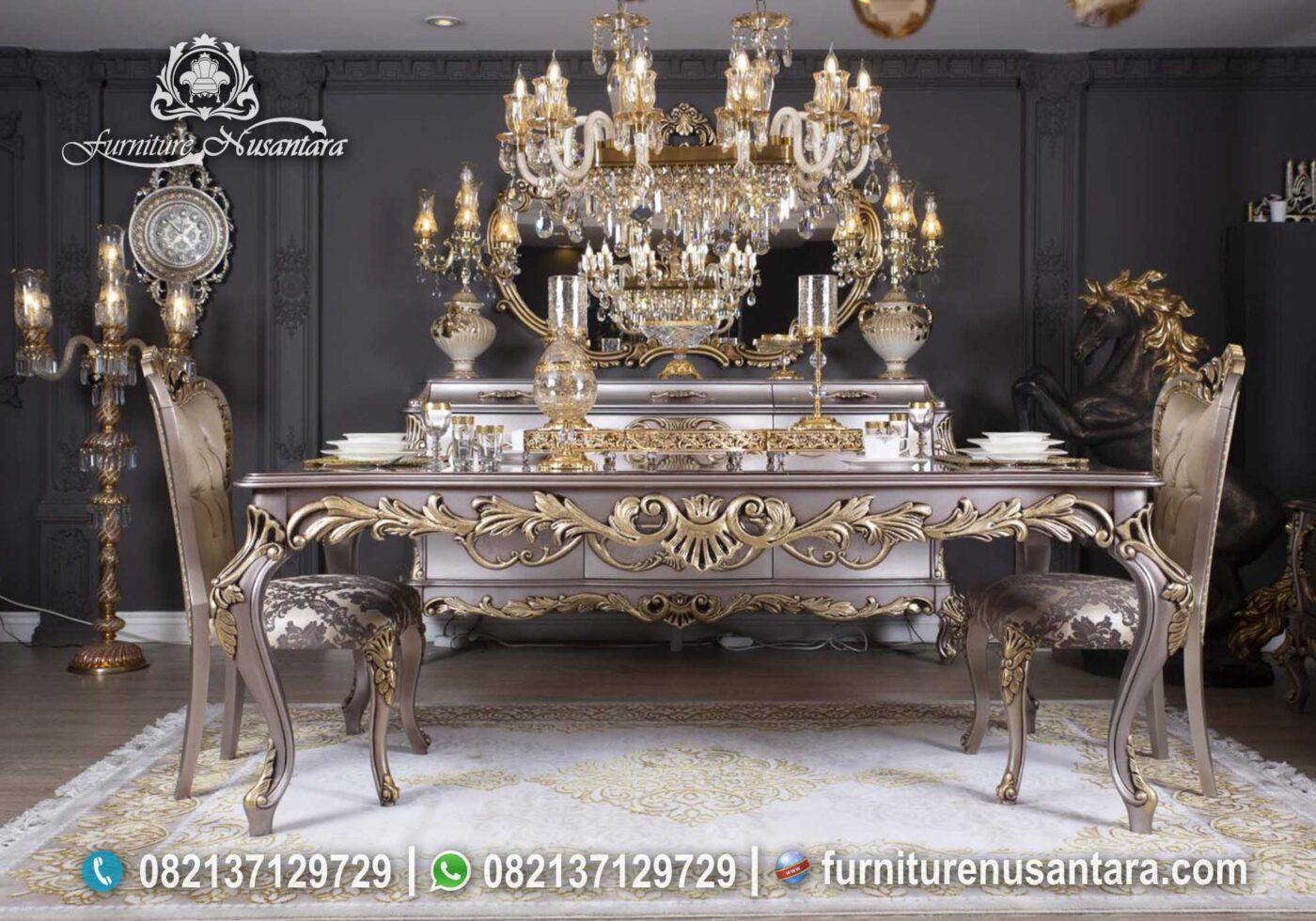 Jual Meja Makan Ukir Jepara Terbaru MM-22, Furniture Nusantara