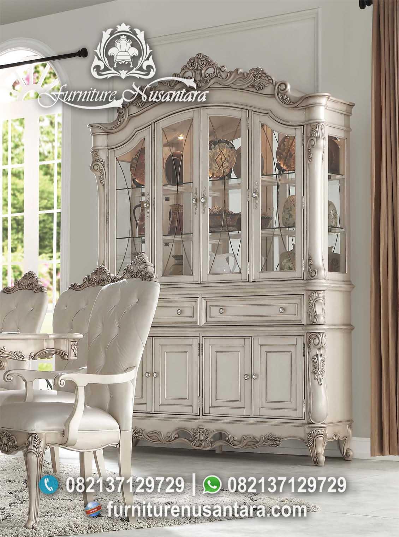 New Lemari Hias Pajangan Putih Soft LP-03, Furniture Nusantara
