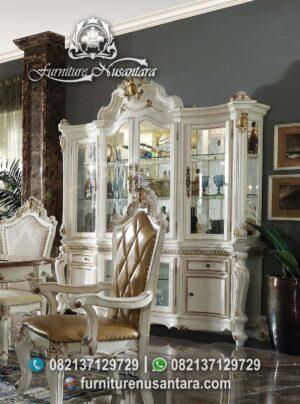 Cantik Lemari Pajangan Putih Mewah LP-04, Furniture Nusantara