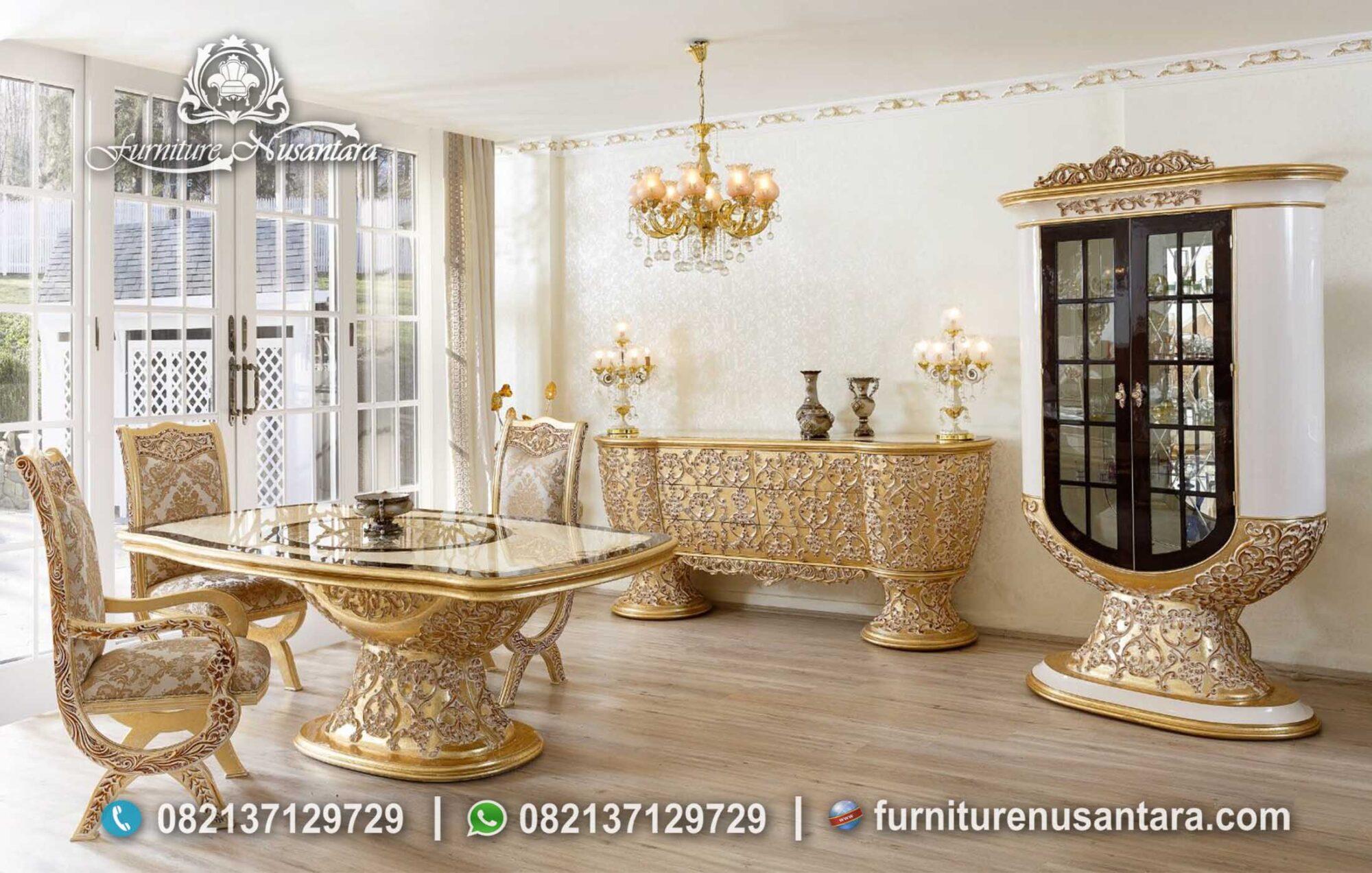 Jual Kursi & Meja Makan Model Terbaru Ukir Mewah MM-06, Furniture Nusantara