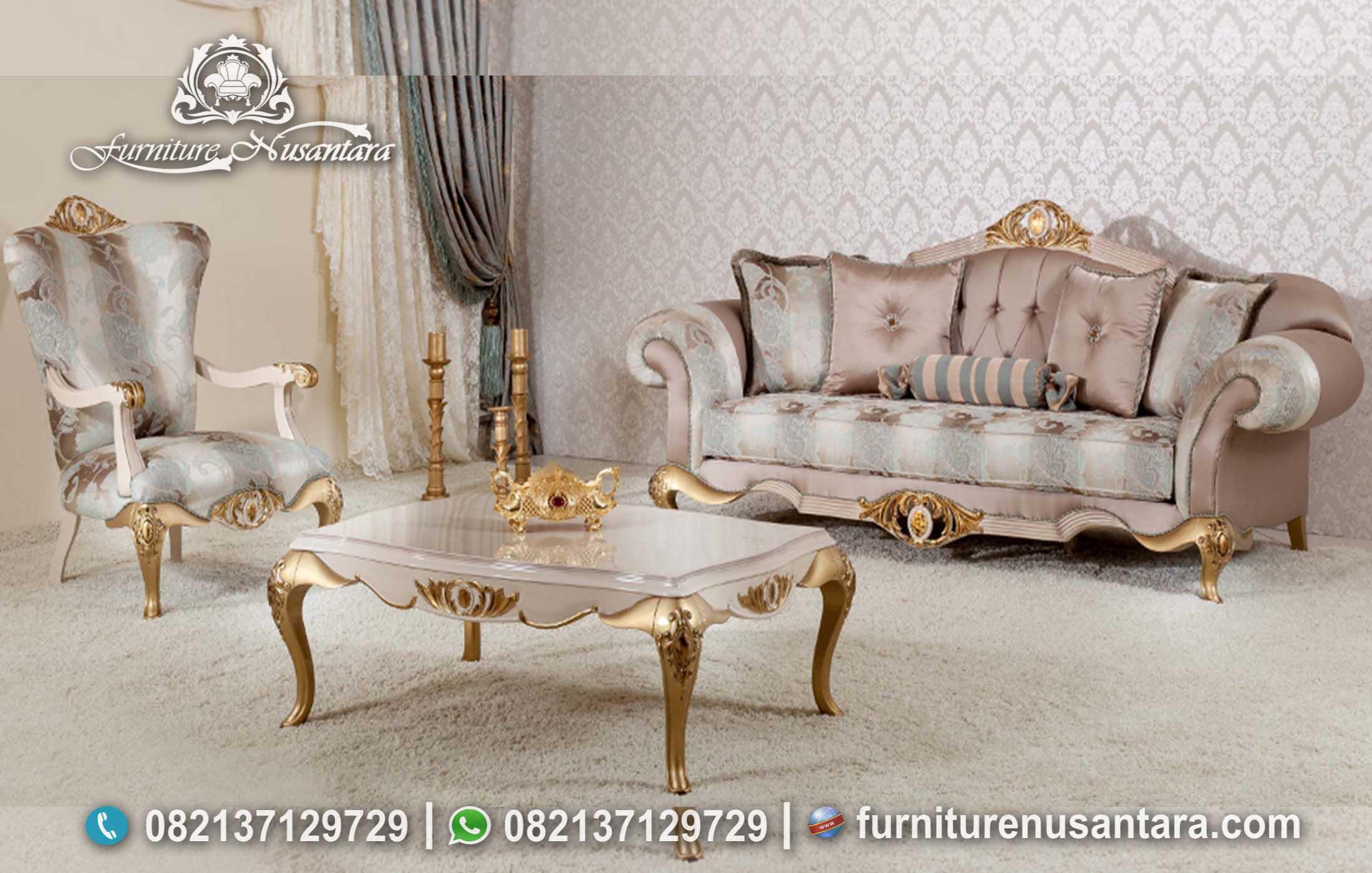 Jual Sofa Tamu Klasik Berkualitas ST-38, Furniture Nusantara