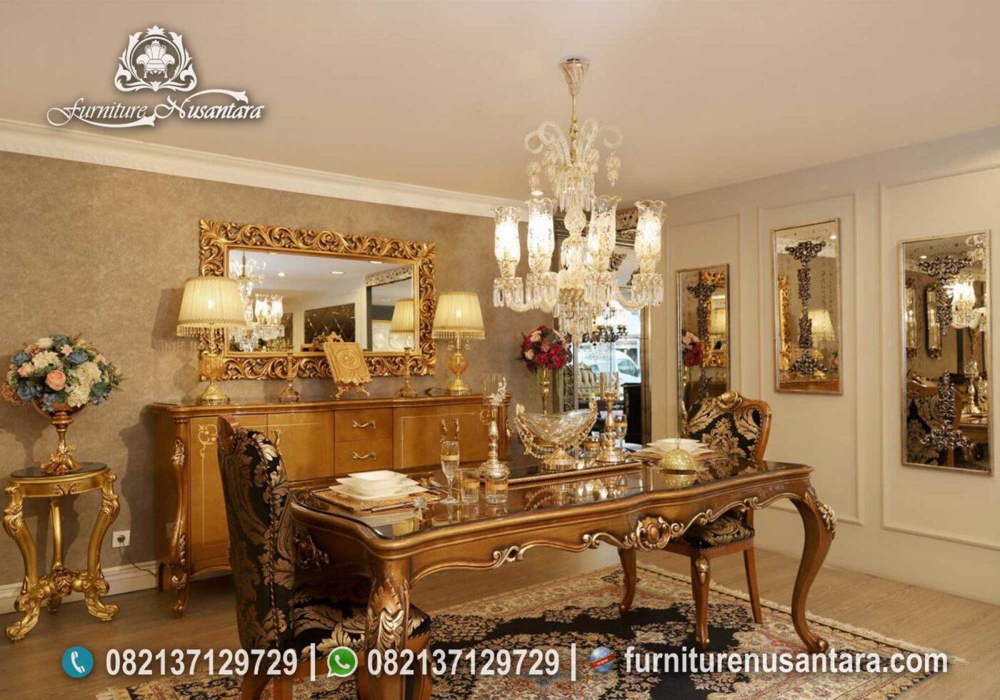 Harga Meja Makan Klasik Terbaru MM-03, Furniture Nusantara