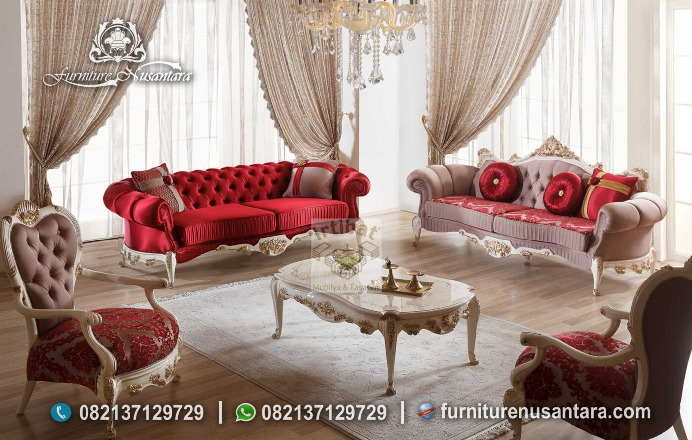 Kursi Sofa Retro Luxury ST-48, Furniture Nusantara