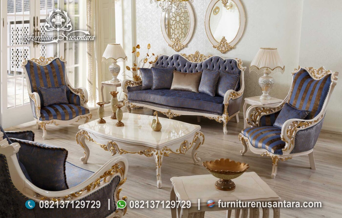 Sofa Retro Klasik Ukir Mewah Modern ST-49, Furniture Nusantara