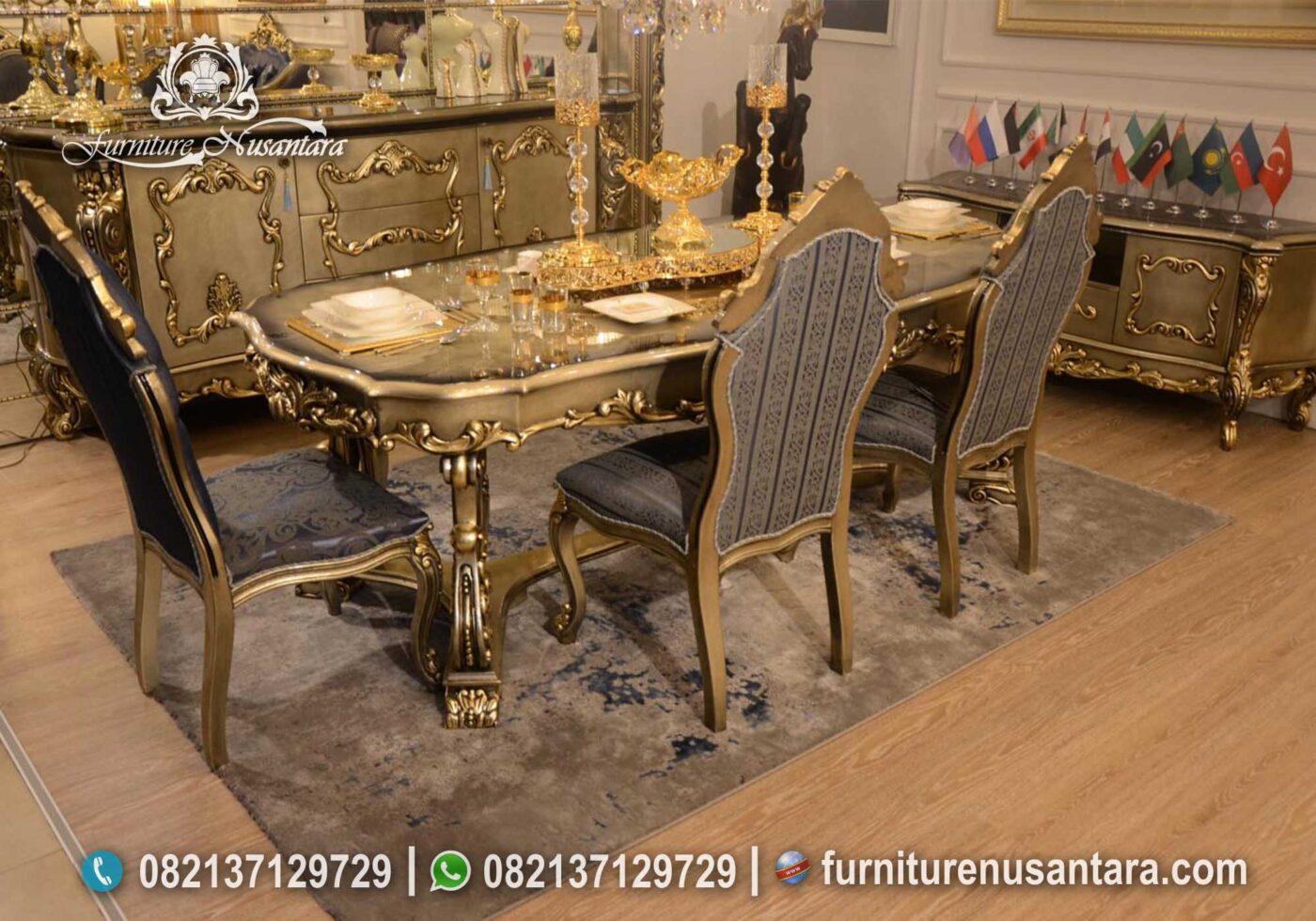 Meja Makan Klasik Ukir Jepara MM-10, Furniture Nusantara