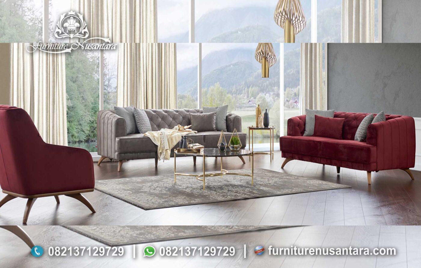 Kursi Sofa Minimalis Merah ST-47, Furniture Nusantara